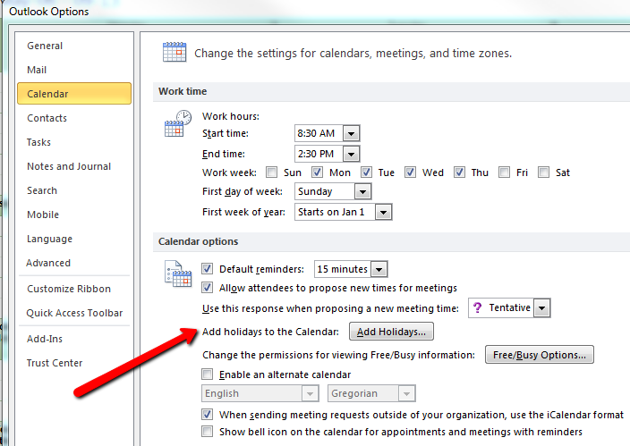 how to set reminders in outlook calendar 2013